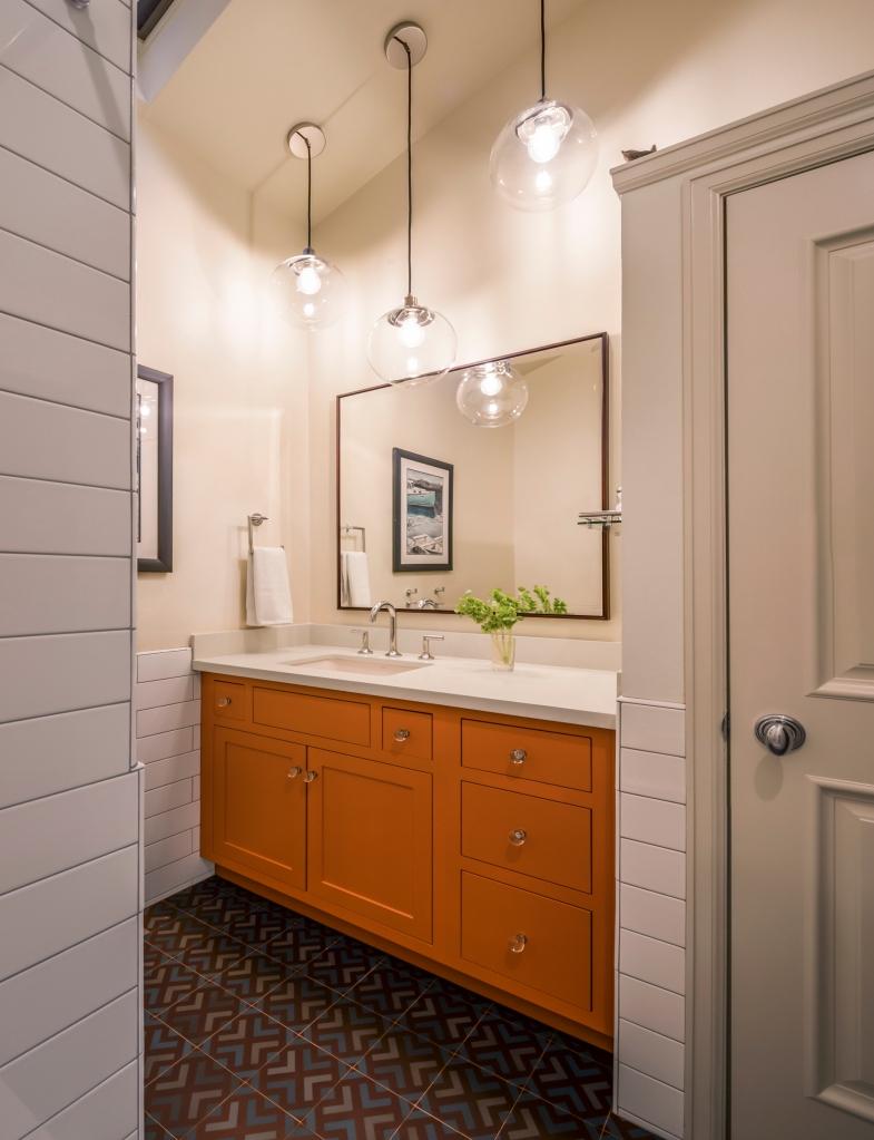 ranch bathroom colorful