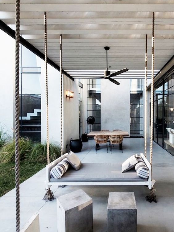 industrial style patio
