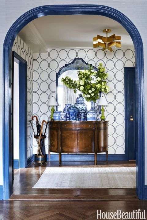 Blue Foyer Door : Color my world how to use navy blue in your home the