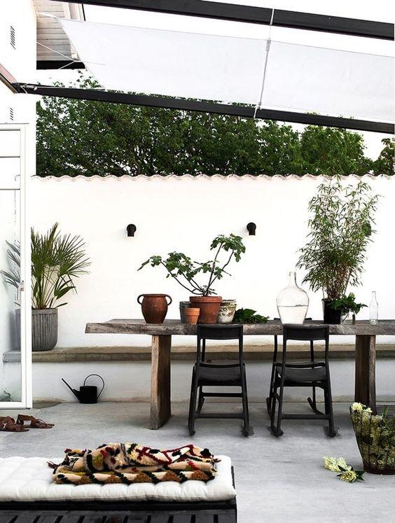 scandinavian style patio