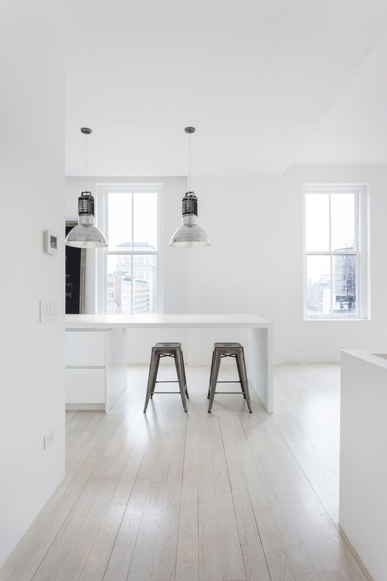 white loft kitchen