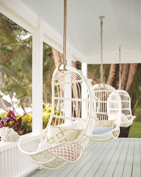 scandinavian style hanging chair