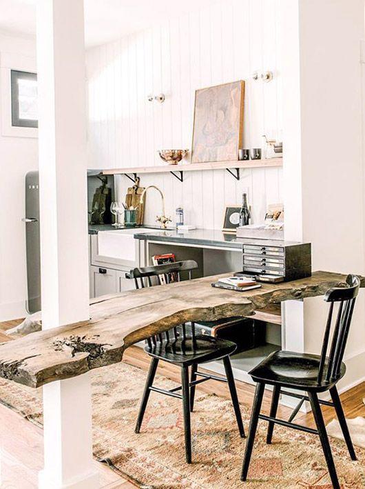 kitchen with art