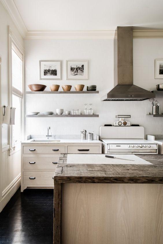 steel shelves kitchen