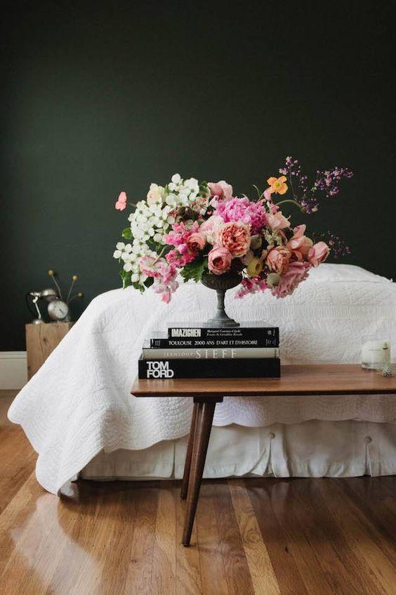(Source) Dark Green Bedroom Walls