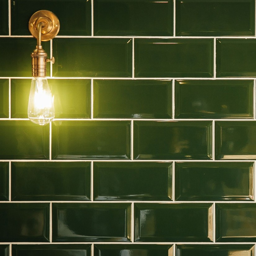 Green Subway Tile Kitchen: Color My World: How To Use Dark Green In Your Home