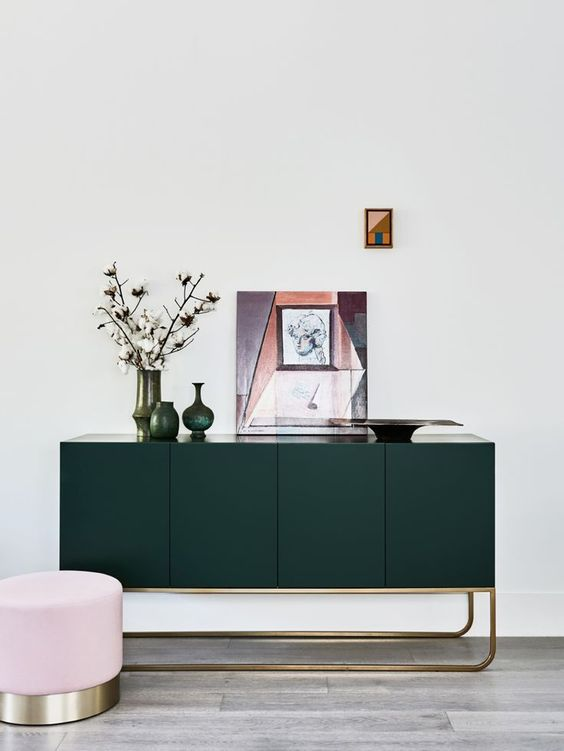 dark green furniture