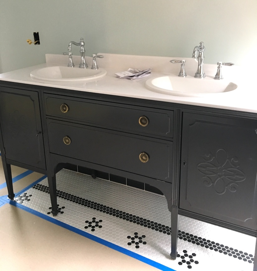 """Bathroom Vanities Craigslist tips for turning a craigslist """"antique"""" into a vanity – the"""