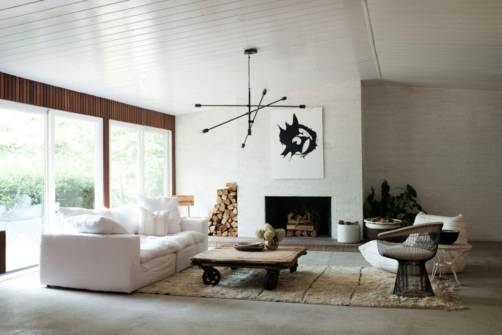 living room concrete floor