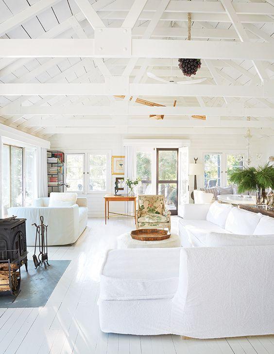 all white cottage interior