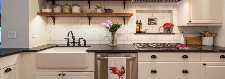 White Kitchen Vintage Style The Colorado Nest
