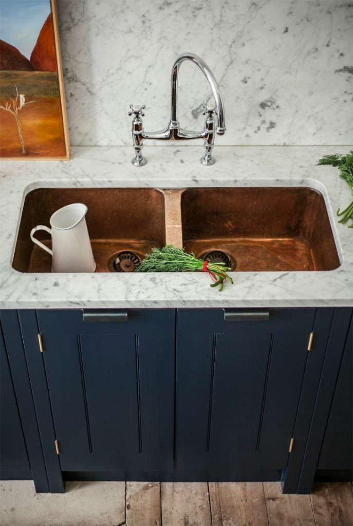 copper sink kitchen