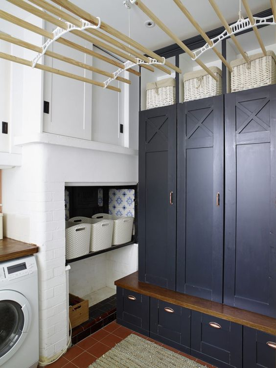 cubbies laundry room