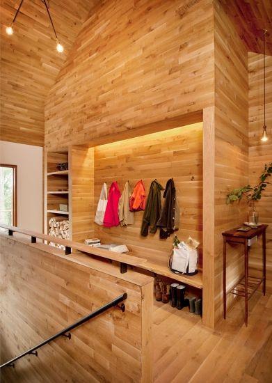 all wood hallway