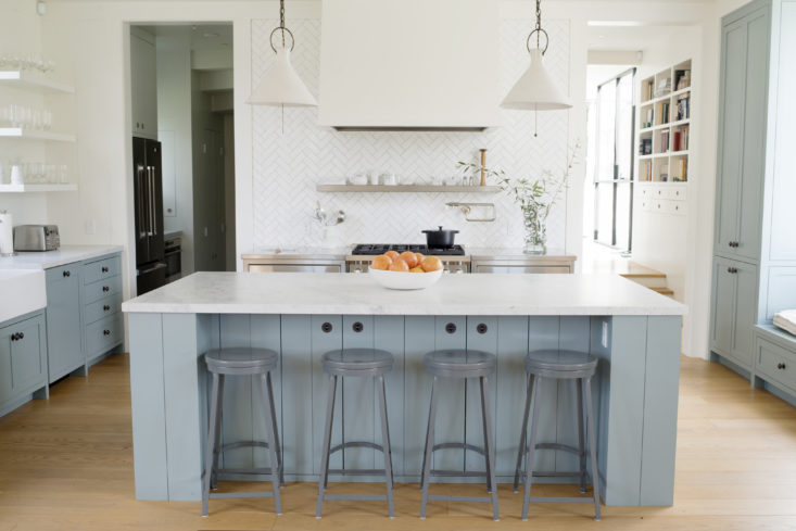 soft blue cabinets