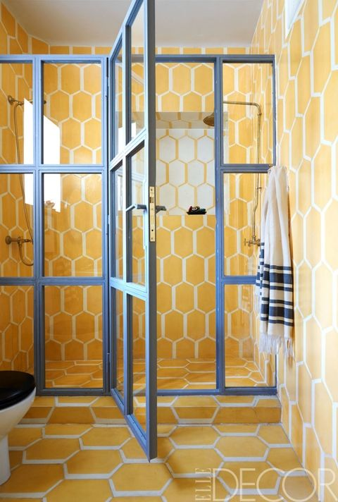 yellow hexagon tile
