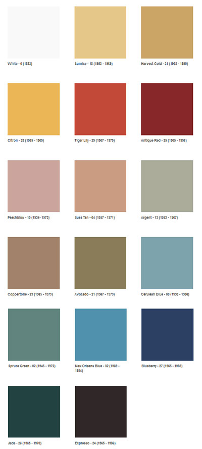 1960s color palette