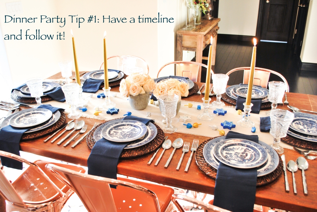 hanukkah table setting