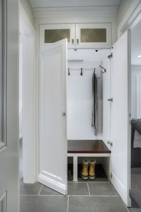 hidden mudroom storage