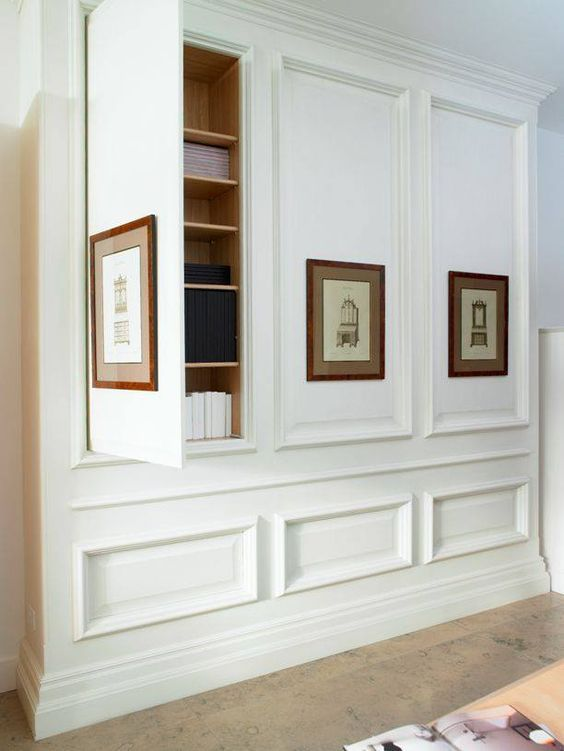 hidden hall storage closet
