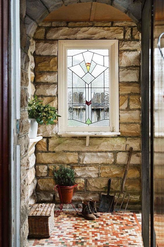 stained glass porch
