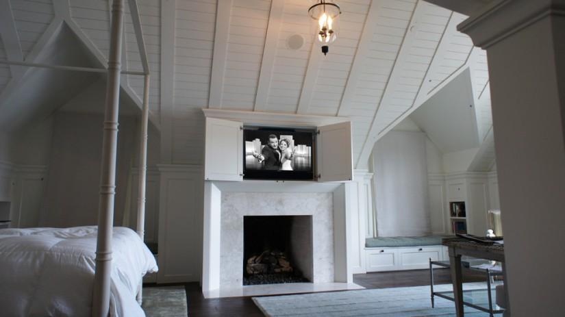 hidden tv bedroom