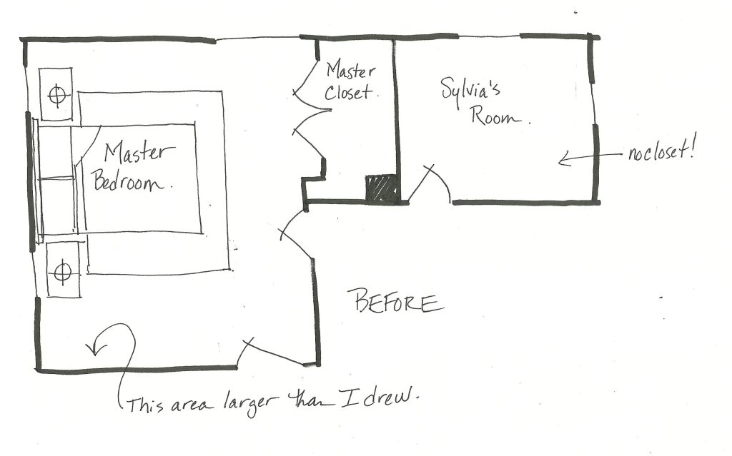 before floor plan bedrooms