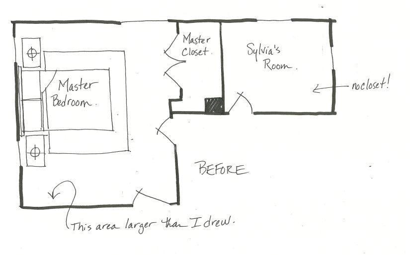 before floor plan bedrooms