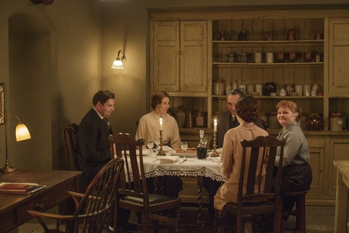 kitchen servants table downton abbey