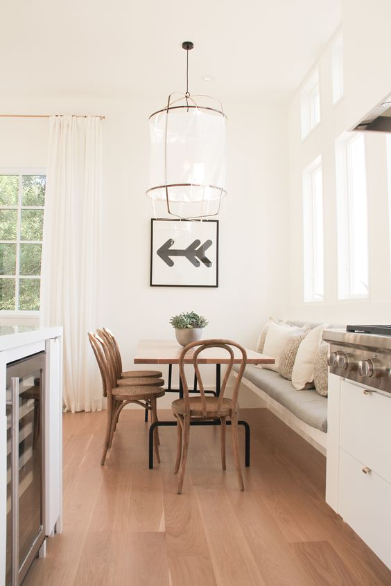simple banquette kitchen