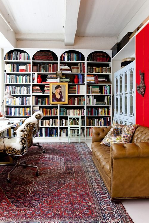 red rug library
