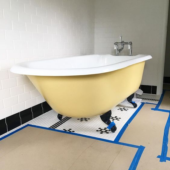 yellow claw foot tub