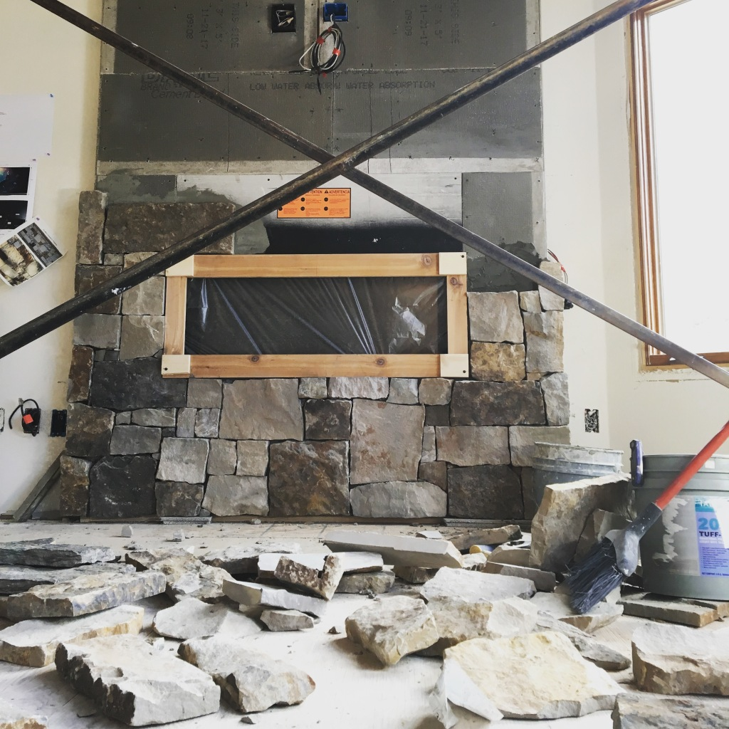 fireplace real stone