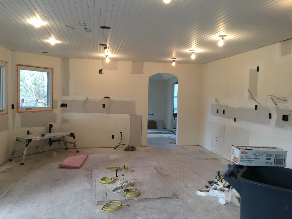 during kitchen renovation