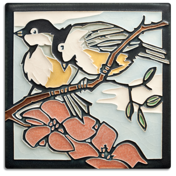 art tile chickadees