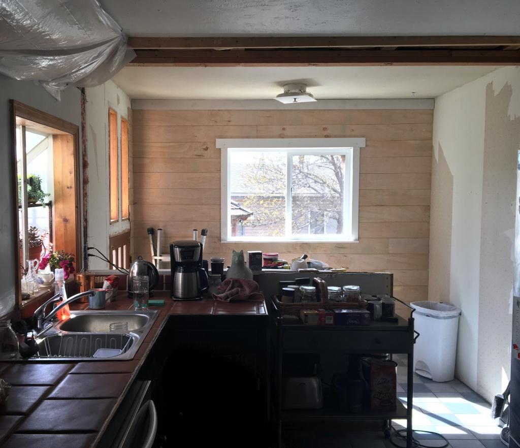 planking kitchen window