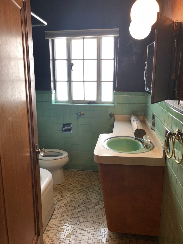 vintage bathroom before