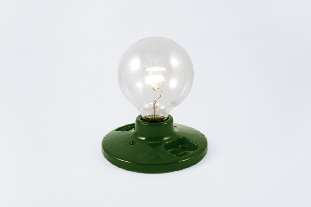 green porcelain light socket