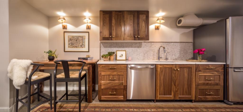 walnut kitchen cabinetry