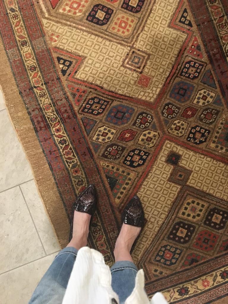 antique serab rug