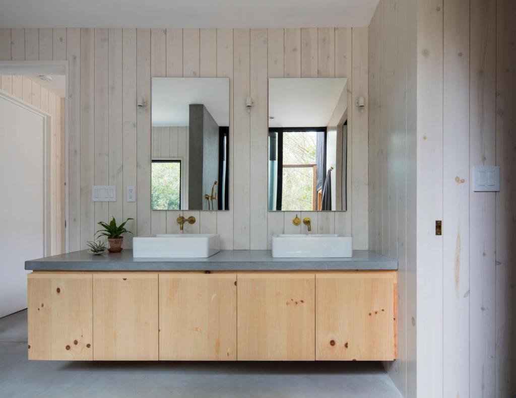 pine master bath vanity