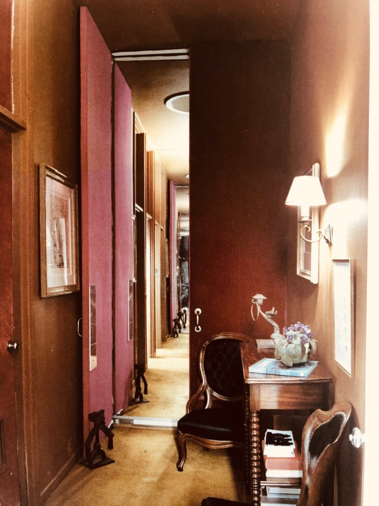 bold colors hallway
