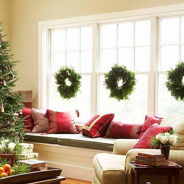 interior wreaths window
