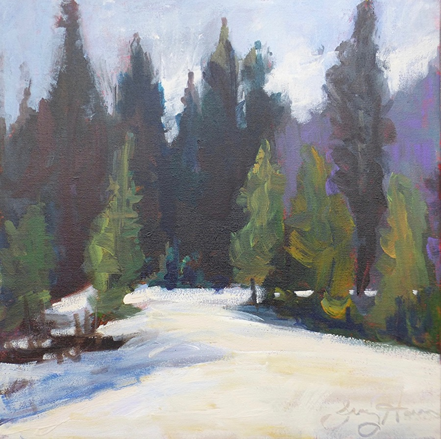 Nice Day in Rocky Mountain National Park 18x18x3/4 acrylic/cnv