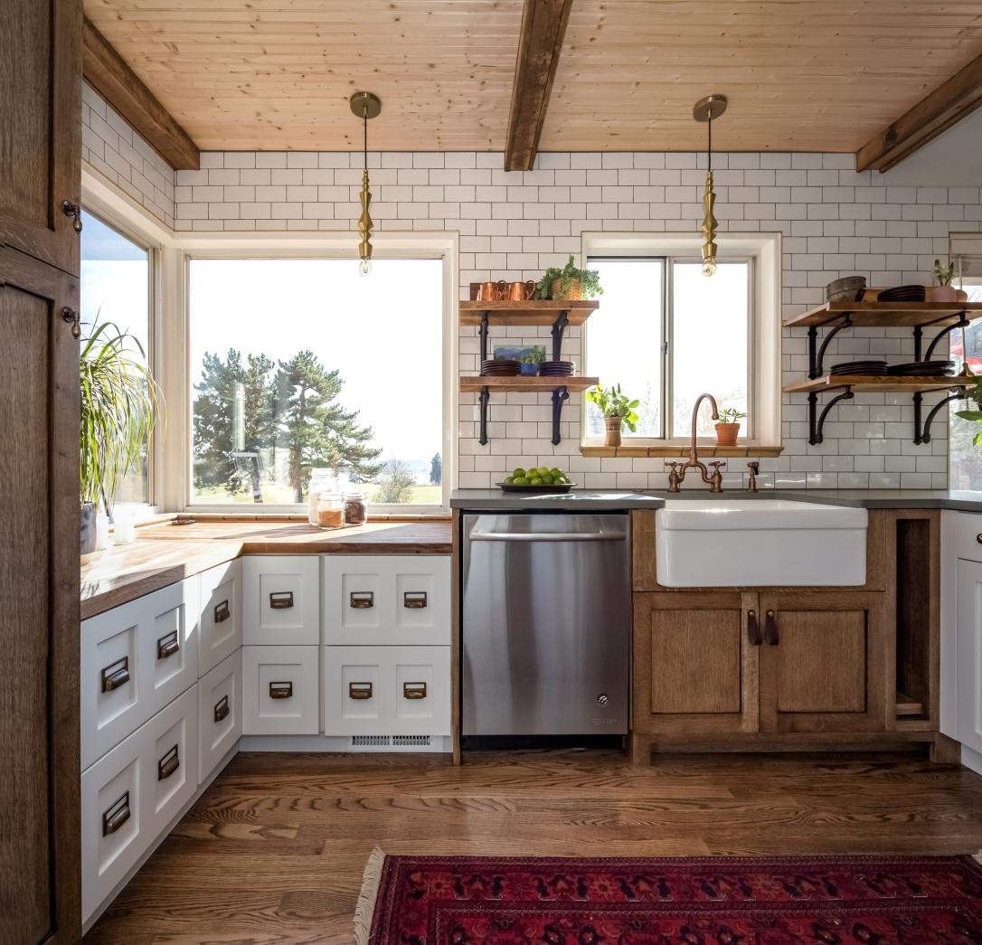 small kitchen big windows