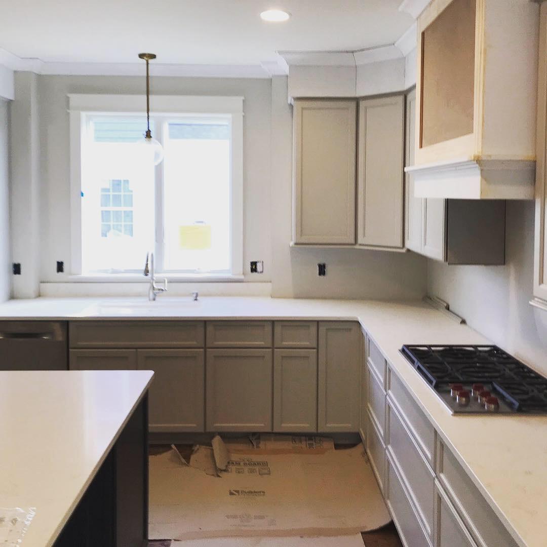 gray kitchen site visit