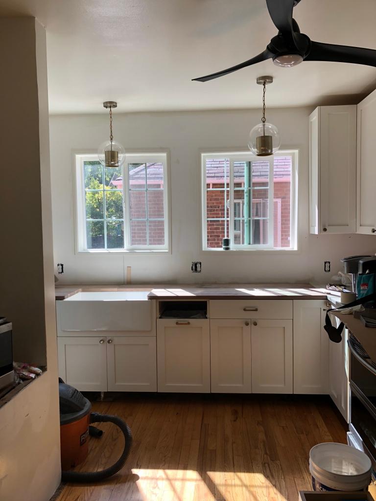 Site visit white kitchen