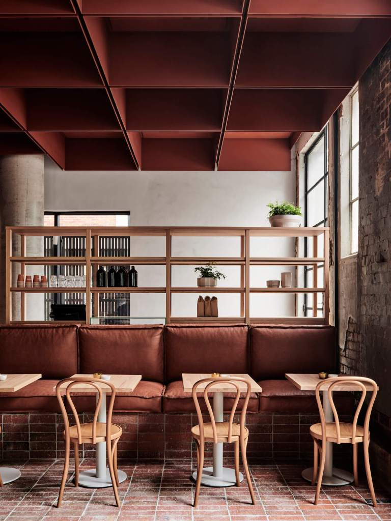 earthy colors cafe
