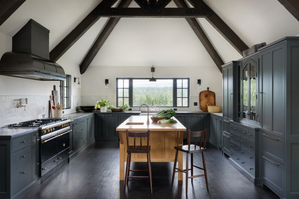 dark gray kitchen