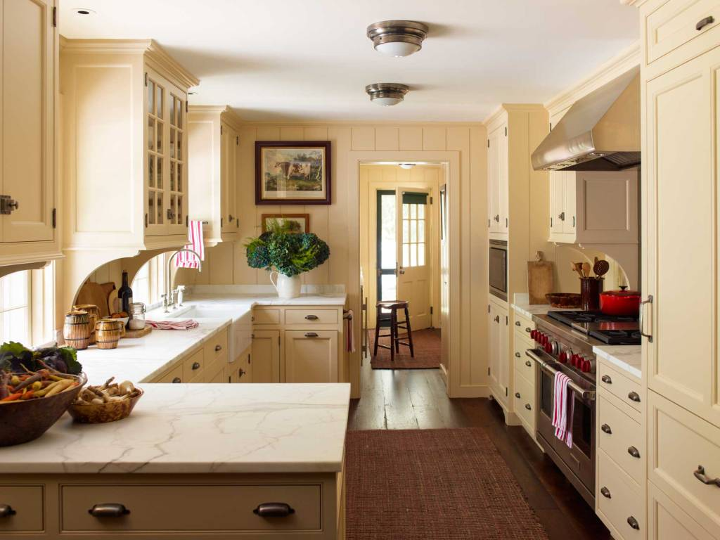 peach kitchen cabinets